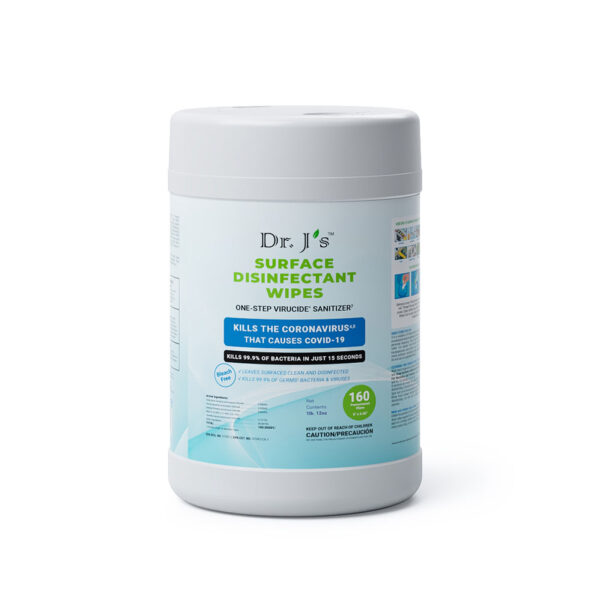 DrJs Surface Disinfectant Wipes 160ct canister