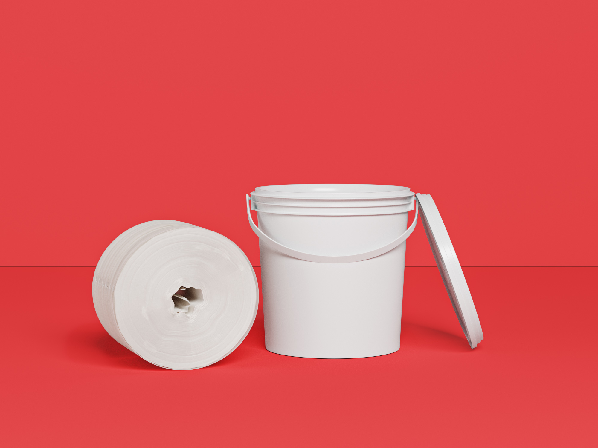 700Ct Dry Wipes Roll In Bucket