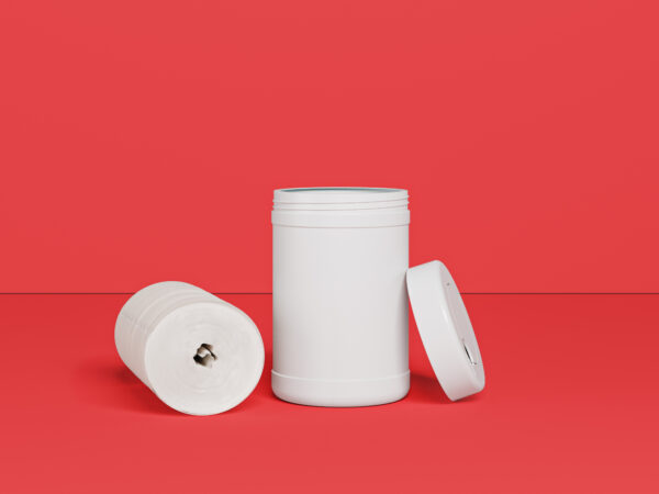 160Ct Dry Wipes Roll In Canister