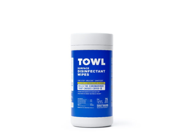 TOWL Surface Disinfectant Wipes - 75Ct Canister