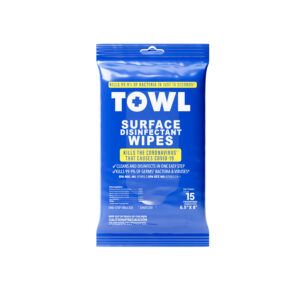TOWL Surface Disinfectant Wipes - 15Ct Soft Pack