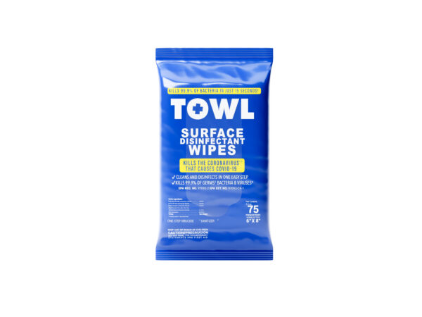 TOWL Surface Disinfectant Wipes - 75Ct Soft Pack